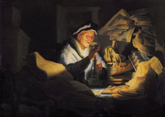 Rembrandt: The Parable of the Rich Fool. Fine Art Print/Poster. Sizes: A4/A3/A2/A1 (004294)